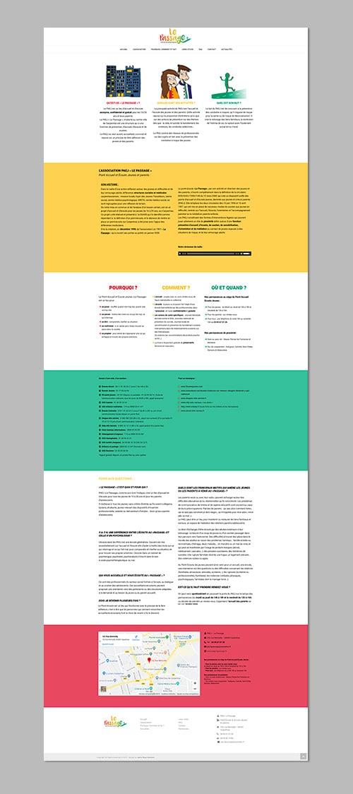 le passage_site-web-one page-agence web marseille aix en provence site web