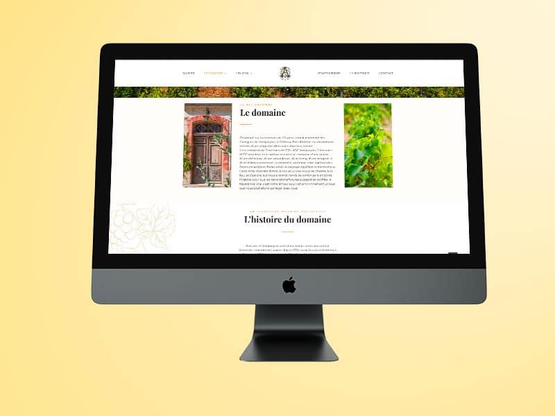 vin site web cave domaine