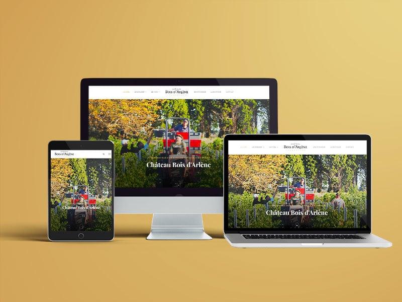 Domaine viticole site multi langue