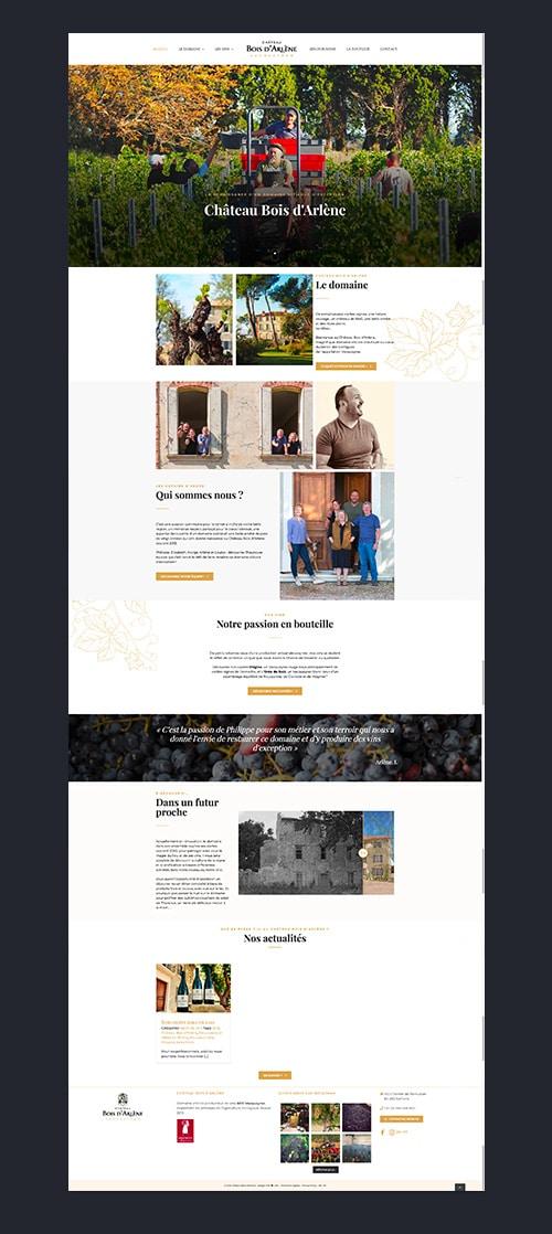 site-web-marseille-agence-webdesign-chateau-bois-d'arlène-paris-MARSEILLE