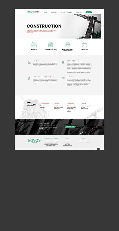 creation de site web pour entreprise d'ingenieurie